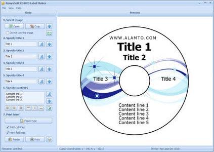 نرم افزار طراحی لیبل سی دی CD DVD Label Maker 2.02.11