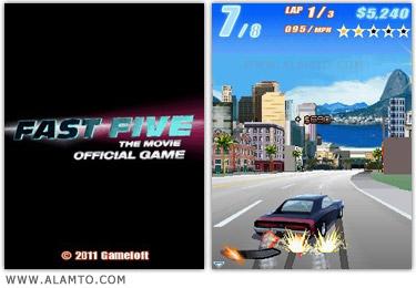 بازی ماشین مسابقه جدید برای موبایل Fast Five - 2011
