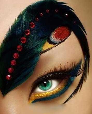 Eyes Make up 02 مدل های آرایش چشم ، ابرو و مژه بصورت تزیینی