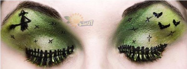 مدل های آرایش چشم ، ابرو و مژه بصورت تزیینی