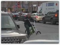 کلیپ فوق العاده دیدنی دوچرخه تاشو