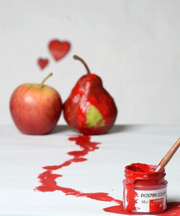 عکس خنده دار : ساخت شکلک های جالب با میوه ها